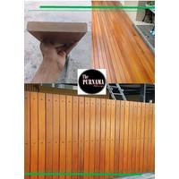 Papan Polos Kayu Bengkirai untuk Pagar - Lantai - Teras Balkon