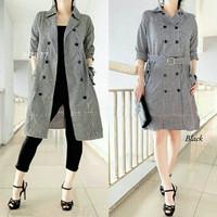 Baju Atasan Kemeja kameja tunik mini dress coat wanita lengan panjang