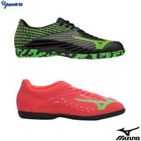 Sepatu Futsal Mizuno Basara 103 IN - Black Green & Fiery Coral Origina