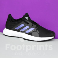 Sepatu Tenis Adidas Game Court White Black Gamecourt Tennis Shoes