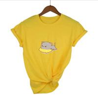 Baju Kaos Wanita Gambar Kucing Premium - Daily Tees - Oblongwanita
