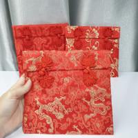 Dompet Angpao Kain Chinese Knot Kado Sangjit Imlek Premium Size Besar