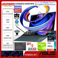 ASUS ZENBOOK DUO UX482EG-KA551IPS i5-1135G7 8GB 512GB MX450 2GB 14