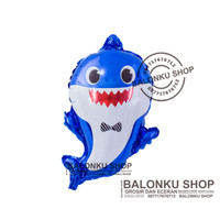 Balon Baby Shark Biru / Balon Foil Baby Shark / Balon Baby Shark