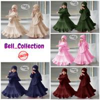 BAJU GAMIS AQSHA KIDS//MATT JERSEY 3-5THN (hijab cadar)