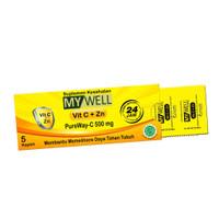 My Well Pureway C Vit C 500MG 1 Amplop isi 5 Kaplet / Vitamin C