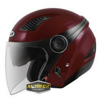 HELM ZEUS ZS610 RED WIN ZS 610 ZS-610 Half face Double visor