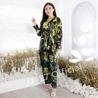 Setelan Piyama Wanita Jumbo Tie Dye Lengan Panjang Bigsize LD 120