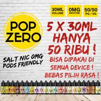 Paket Hemat Liquid Salt 0 Nic 30ml Pop Zero