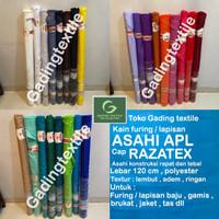 Kain furing Asahi APL RAZATEX per roll bahan lapisan baju brukat craft