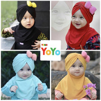 Jilbab bayi anak pita lucu / kerudung bayi anak / hijab bayi anak pita