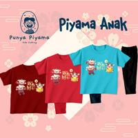 Piyama Baju Tidur Anak Laki Perempuan Imlek Gong Xie OX Year - MAROON, S