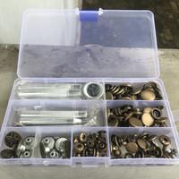 Set Kancing Jepret dan Alat Pemasang Kancing Leather Craft Tool