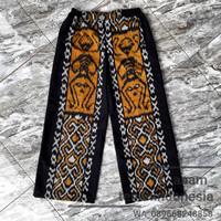 celana kulot wanita bawahan batik ethnic asmat tenun blanket AT002