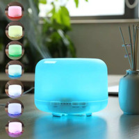 Ultrasonic Aroma Diffuser 500 ml Humidifier Color 7 led pelembab harum