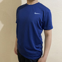 Kaos Olahraga Polos/ Baju Bahan Dry Fit / Baju Olahraga Pria NI01 - M, Putih