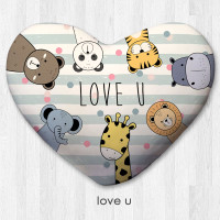 Bantal Dekorasi bentuk hati / kado valentine - Love U