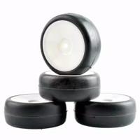F015 RC Flat/slick soft On Road tires, ban RC velg 1:10