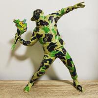 Bape x Banksy Brandalism Flower Bomber Sculpture Green