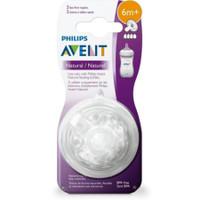 Asli Original Philips Avent Natural Nipple/Dot/Teats ukuran 6M+