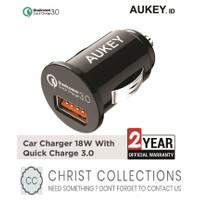 AUKEY CAR CHARGER MOBIL FAST CHARGING 18W FOR IPHONE PORT USB QC3.0