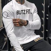 Tshirt LiveFit Lengan Panjang LV19 - Putih, M