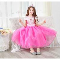 KOSTUM PRINCESS AURORA PINK baju princess anak - 130