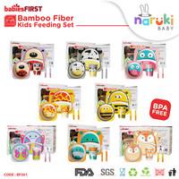 BabiesFirst Bamboo Fiber Kids Feeding Set Animal Peralatan Makan Anak