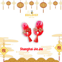 Little Sosete -CNY Series- Shanghai Jie Jie - Kaos kaki anak bayi lucu