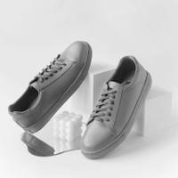 Sneakers Kulit Pria - Winshor - Oxmond - Full Grey
