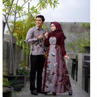 Baju Batik Pasangan Pria wanita Baju Couple Gamis Syari Fashion Muslim