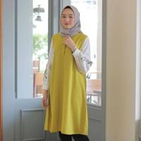 Baju Kerja Wanita Muslimah Atasan Bordir Motif Tunik Lokasi Mataram