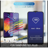 tempered glass 10D blue light Samsung s21 s21 plus anti radiasi