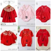 BJ291 baju imlek anak bayi 0-18 bulan laki perempuan jumper cheongsam