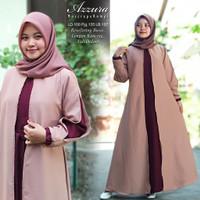 Baju Wanita Gamis Syari Azzura Moscrepe Rompi Busana Muslim Murah