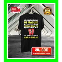 COD/BAYAR TEMPAT Baju Kaos Dakwah Pria Islami Muslim Tauhid Distro A23