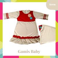 Baju Gamis Bayi Perempuan Cantik Set Hijab | Gamis Baby Cewe