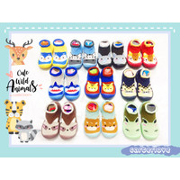 Skidder Bayi Sol Baru Motif Cute Wild Animals - Baby Shoes 10 Pilihan