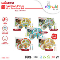 BabiesFirst Bamboo Fiber Kids Feeding Set Zoo Edition BF502
