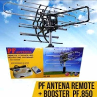 ANTENA TV DIGITAL DENGAN REMOTE & BOOSTER PF850 free kabel 10 meter