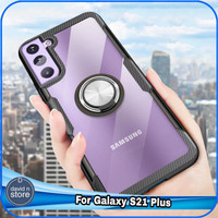 Casing Samsung Galaxy S21 Plus S 21 plus Hard Soft Case Ring Cover