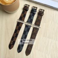 Strap Apple Watch Series 6 SE LV Leather Kulit Band Tali 44mm 40mm