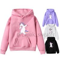 sweater hoodie unicorn anak perempuan jaket baju anak perempuan Fleece