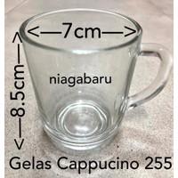 Gelas kopi 255 (6 Pcs) / Teh gagang / Gelas Kopi Kaca Beling 250 ml