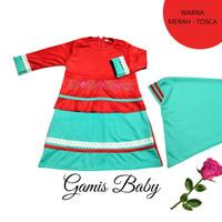 Baju Gamis Bayi Perempuan Set Hijab | Gamis Balita Perempuan Imut