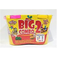 Fun Doh BIG COMBO 2 Refill - Lilin Mainan Anak FunDoh PlayDoh Play Doh - PINK - KUNING