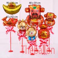 Balon Foil Chinese New Year | Imlek | Good Of Wealth | Coin Ingot | Fi