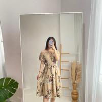 Baju Maxi drees yurika motif bunga kekinian