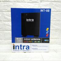ANTENA TV DIGITAL INDOOR OUTDOOR INTRA 118 free kabel 10 m + Booster
