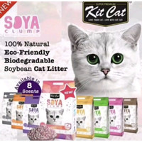 Kitcat Soya Clump Cat Litter - 7liter - Pasir Kucing Kitcat tofu 7L